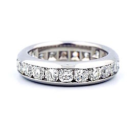 Tiffany & Co. Lucida Platinum 2.31 Ct Diamond Eternity Band Ring Size 9.25