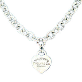 Tiffany & Co. Please Return To Tiffany & Co. Sterling Silver Heart Tag Necklace