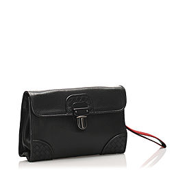 Intrecciato Perforated Leather Clutch Bag