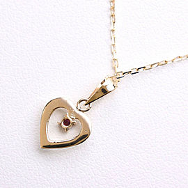 heart Necklace K18 yellow gold/Ruby Women