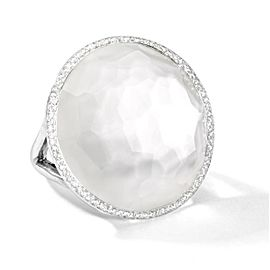 Ippolita Lollipop Sterling Silver with Mother of Pearl & 0.34ct Diamonds Ring Size 7