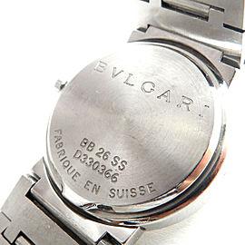 BVLGARI Steel BB26SS Quartz Wrist Watch TBRK-346