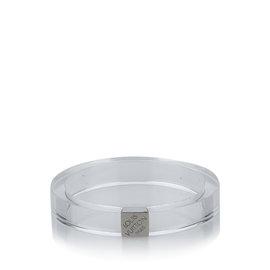 Louis Vuitton Plastic Silver Tone Hardware Bracelet