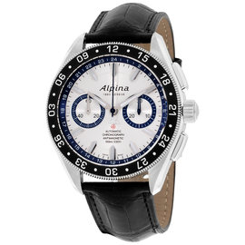 Alpina Alpiner AL860AD5AQ6 Silver Dial Leather Strap Automatic 44mm Mens Watch