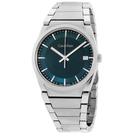 Calvin Klein Step F07.111 Stainless Steel Green Dial 38mm Mens Watch