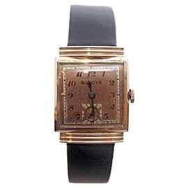 Bulova 14K Rose Gold Plated Vintage 25mm Unisex Watch Year 1940
