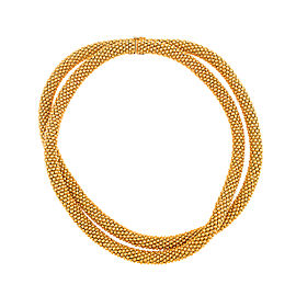 Tiffany & Co. 18K Yellow Gold Double Strand Necklace