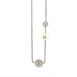 Christian Dior metal button Logos Necklace