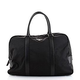 Prada Zip Around Briefcase Tessuto with Saffiano Leather Large
