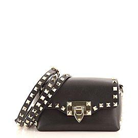 Valentino Rockstud Flip Lock Flap Bag Leather Mini