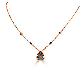 14K Rose Gold Fancy Color Diamond & Rough Diamond Necklace