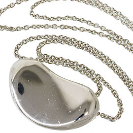 TIFFANY & CO. 925 Sterling Silver Elsa Peretti Bean Pendant Necklace