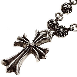 Chrome Hearts 925 Sterling Silver Cross Pendant Necklace