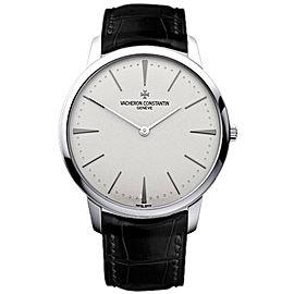 Vacheron Constantin Patrimony 81180/000G-9117 18K White Gold & Leather 40mm Mens Watch
