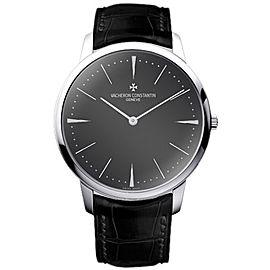 Vacheron Constantin Patrimony 81180/000P-9539 Platinum with Gray Dial 40mm Mens Watch