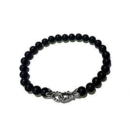 David Yurman 6mm Matte Black Onyx Spiritual Bead Bracelet