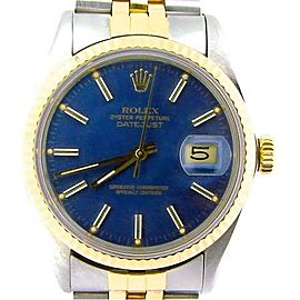 Mens Rolex Two-Tone Datejust Blue 16013