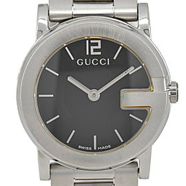 Gucci 101L/YA101505 Black Dial Stainless Steel Quartz Women's Watch