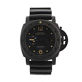Panerai Luminor Submersible Carbotech 3 Days Automatic Watch Carbon and Titanium with Rubber 47