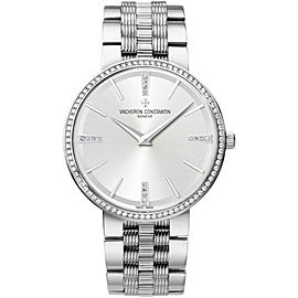 Vacheron Constantin Traditionnelle 81577V01G-9270 18K White Gold with Silver Dial 38mm Mens Watch