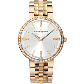 Vacheron Constantin Traditionnelle 81577/V01R-9271 18K Rose Gold with Silver Dial Manual Wind 38mm Mens Watch