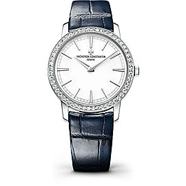 Vacheron Constantin Traditionnelle 81590/000G-9848 18K White Gold with Silver Dial 33mm Womens Watch