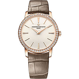 Vacheron Constantin Traditionnelle 81590/000R-9849 18K Rose Gold with Cream Dial 33mm Womens Watch