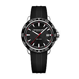 Raymond Weil Tango 300 8160-SR1-20001 Rubber Strap 41mm Mens Watch