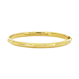 Tiffany & Co. Etoile 18K Yellow Gold Diamond Bangle Bracelet