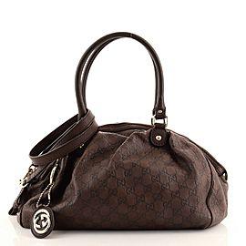Gucci Sukey Convertible Boston Bag Guccissima Leather