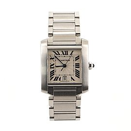 Cartier Tank Francaise Men's Automatic Watch Stainless Steel 28