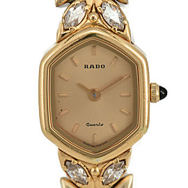 RADO 133.9685.2 4P Rhinestone Gold Dial Quartz Ladies Watch