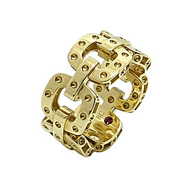 Roberto Coin Pois Moi Link 18K Yellow Gold Ring Size 6.5