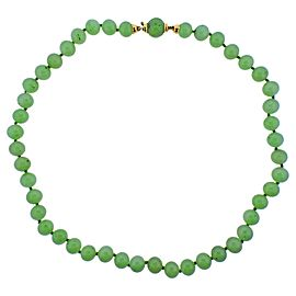 Jade Bead Gold Necklace