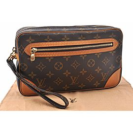 Louis Vuitton Monogram Marly Dragonne Clutch Hand Bag M51825