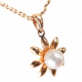 Pearl Necklace 18K Yellow Gold/Pearl Women