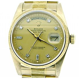 Rolex Day-Date President 18078 36mm Mens Watch