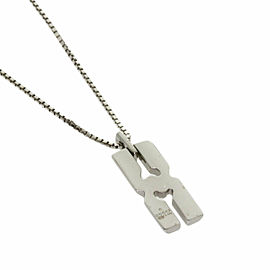 GUCCI 18K White Gold Infinity Necklace