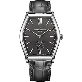 Vacheron Constantin Malte 82230/000G-9185 18K White Gold & Leather with Grey Dial 36.7mm Womens Watch