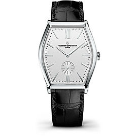 Vacheron Constantin Malte 82230/000G-9962 18K White Gold & Leather with Silver Dial 36.70mm Mens Watch