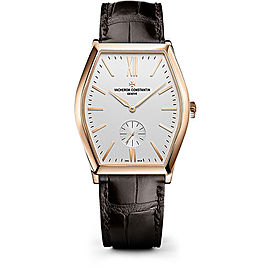 Vacheron Constantin Malte 82230/000R-9963 18K Pink Gold with Silver Dial 36.70mm Mens Watch
