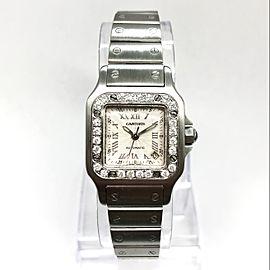 CARTIER SANTOS GALBEE 24mm Automatic Steel Watch 0.65TCW Diamond Bezel NEW Model