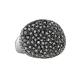 David Yurman Midnight Melange Oval Diamond Ring