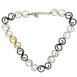 Gurhan 925 Sterling Silver & Gold Vortex Link Chain Necklace