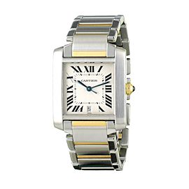 Cartier Panthere Tank 2302 Stainless Steel and 18K Yellow Gold 28mm Automatic Women Watch