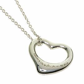 TIFFANY & Co. Silver Open Heart 5P Diamond Necklace