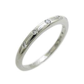 Bulgari 950 Platinum Diamond Fedi Ring Size 5.5