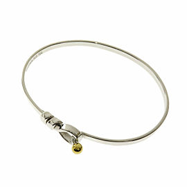 TIFFANY & Co. Flat wire bangle Silver K18 Bracelet