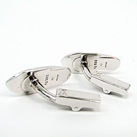 Louis Vuitton Silver Fixed Backing Cufflinks Silver Buton de Manche cufflinks