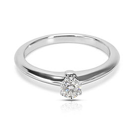Tiffany & Co. Platinum Diamond Wedding Engagement Solitaire Ring